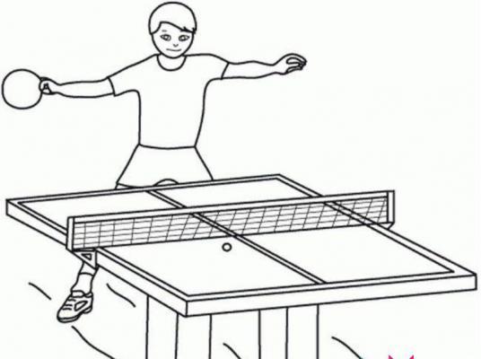 打乒乓球简笔画