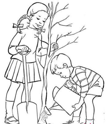 2017年植树节简笔画