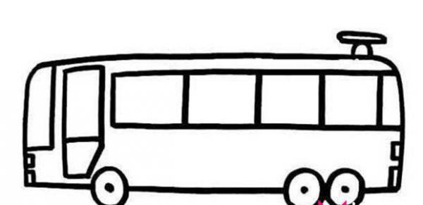 公共汽车的简笔画图片