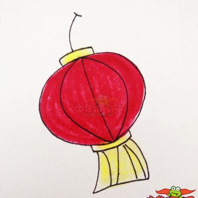 灯笼简笔画步骤图解,幼儿园画灯笼画法